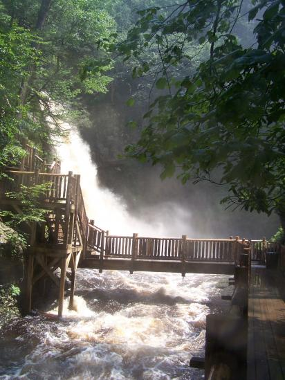 Stunning View of Falls at Bushkill Falls
