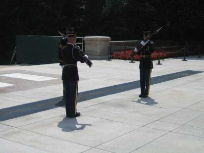 Changing of the Guard at the Tomb of the Unknowns  (photo by Mark May)