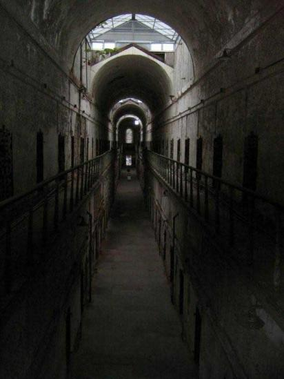Haunted Hallway in Eastern State Pen (photo by Mark May)