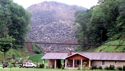 Mountaintop removal coal mining in Martin County, Kentucky