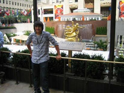 Nathan May at Rockefeller Center NY (photo by Mark May)