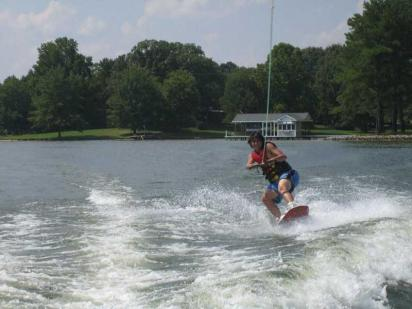 Nathan May Water Skiing on Lake Gaston  (photo by Mark May)