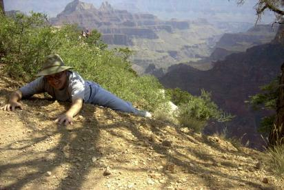 Gerry Barnes Holding on to the Grand Canyon's Edge