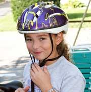 Young Cyclist in Bike Helmet