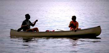 Two in Canoe Boating