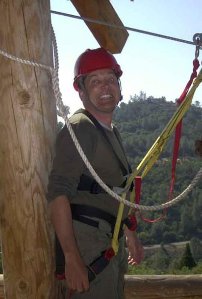 Gerry Barnes on the Zip Line