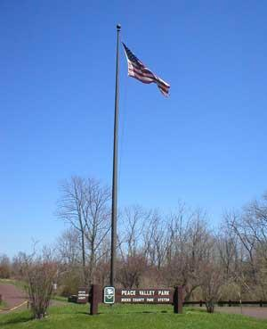 Flag at Peace Valley
