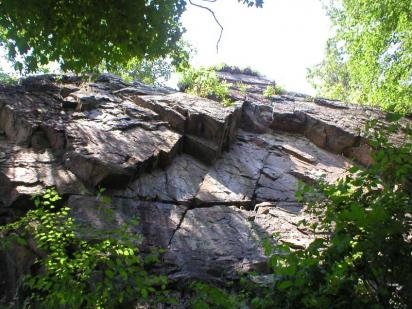 Looking up at a Cliff of Perpendicular in Harriman State Park
